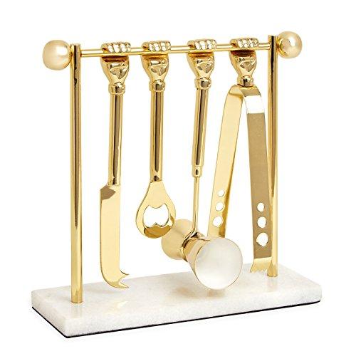 Jonathan Adler 21980 Barbell Barware Set by Jonathan Adler
