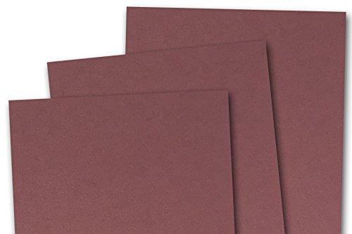 Blank Basic 5x7 inch A7 Card Stock (250 pack, Burgundy)