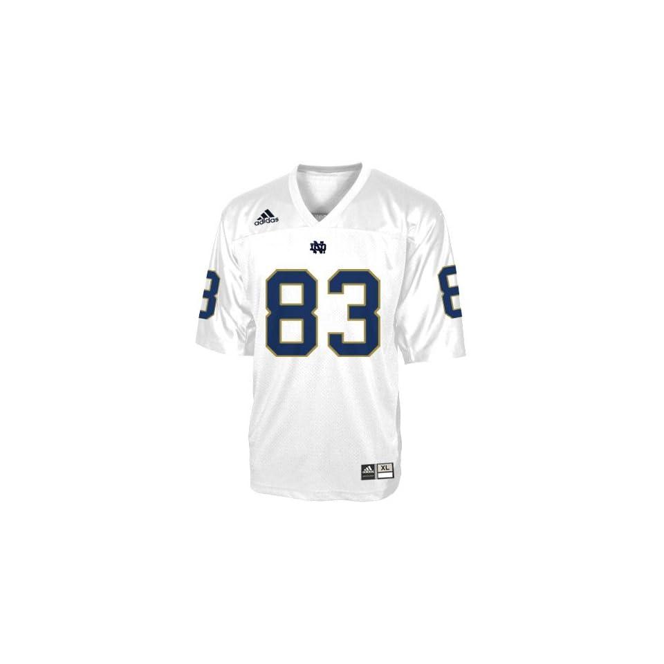 adidas Notre Dame Fighting Irish #83 White Replica Football Jersey
