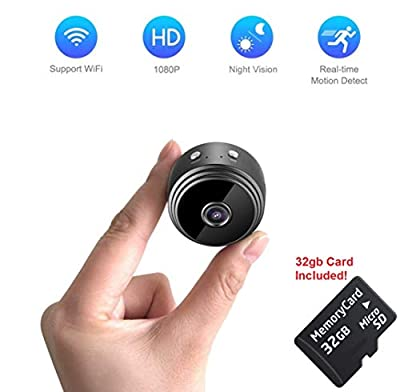 Mini Spy Camera WiFi | Hidden Magnetic Camera | Free 32 gb Micro SD Card | Nanny Pet Body Dash Spy Cam | by DENT PRODUCTS by DENT Products
