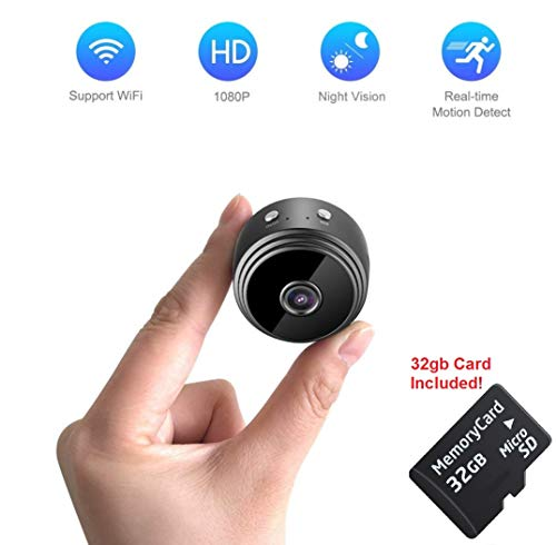Mini Spy Camera WiFi | Hidden Magnetic Camera | Free 32 gb Micro SD Card | Nanny Pet Body Dash Spy Cam DENT Products by DENT Products