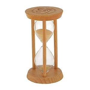 3 Minutos Reloj de Arena Temporizador Matemáticas Ejercicios Cepillarse los Dientes Madera - Amarilla 5