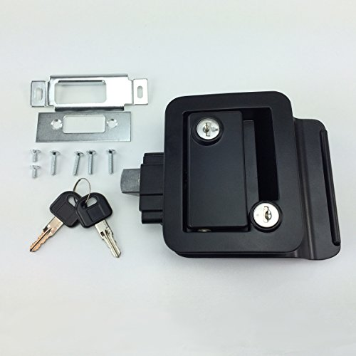 NEW RecPro BLACK RV CAMPER TRAILER MOTORHOME PADDLE ENTRY DOOR LOCK LATCH HANDLE KNOB DEADBOLT - Rv Door Latches