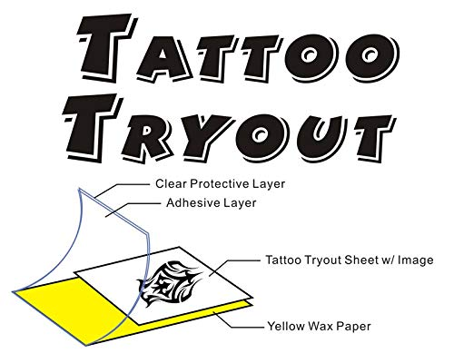 - TATTOO TRYOUT Print Custom Temporary Tattoos 8.5 x 11 (5 Sheets)