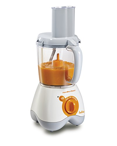 Hamilton Beach 36533 Bebe Baby Food Maker, 5 Cup Food Processor with 10 Food Containers and 2 Stackable Caddies, White