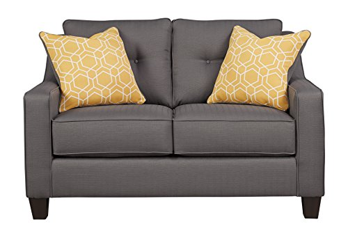 Benchcraft - Aldie Nuvella Contemporary Upholstered Loveseat - ()