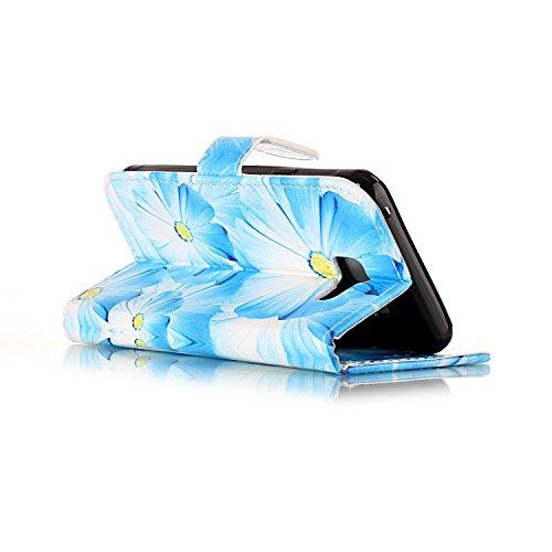 [Flip Case Cover] Funda Samsung A3 SM-A310F 2016 Carcasa Sunroyal® Ultra Slim PU Leather Cuero Cobertura Bookstyle Wallet Cubierta Con [Función de Soporte] [Cierre Magnético] [Billetera con Tapa para  B-07
