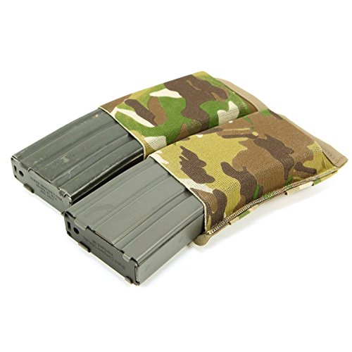 Blue Force Gear HW Ten Speed Double Magazine M4 Pouch, Camo (Rifle Double Camo)