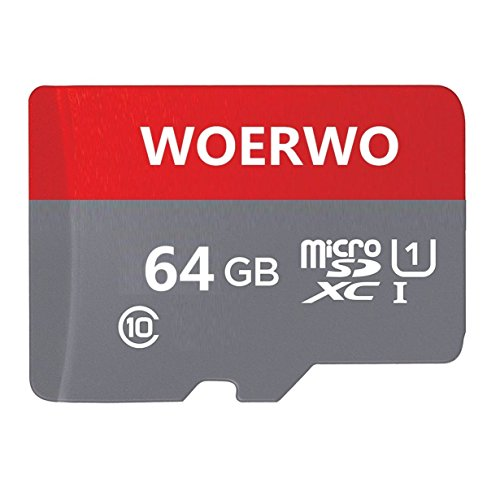 WOERWO 64GB Micro SD SDXC Memory Card High Speed Class 10 with Micro SD Adapter, Designed for Android Smartphones, Tablets And Other Micro SD Card Compatible. by WOERWO