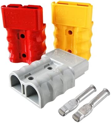 80A ,for 6AWG,BMC2M-14-E 2 Pieces Set60;GREY62; Battery Connector Dual-type