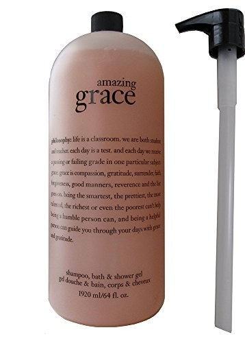 Philosophy Shampoo, Bath & Shower Gel 64 fl oz. Mega Size (Amazing Grace)