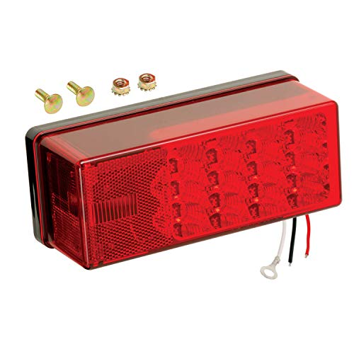Wesbar 407535 Left Hand Low Profile LED Waterproof 8-Function Tail Light