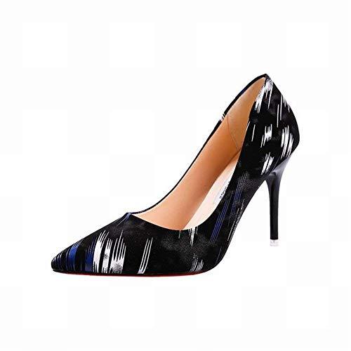 blu con 35 colorate alla Tacchi blu donna taglia scarpe e aghi alti Oudan moda di da 7twqxUp1