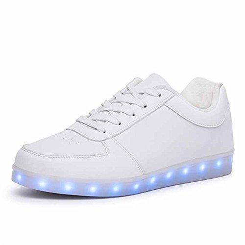 Baha Mut 8 Färger Ledde Skor Usb-laddning Ljus Upp Glöd Kvinnor Blinkande Par Sneakers Vita