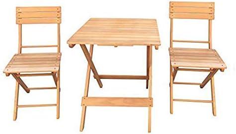 Havnyt - Juego de Mesa Plegable de Madera para jardín y 2 sillas Plegables al Aire Libre: Amazon.es: Jardín