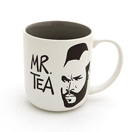 Mr T Tea Parody Grey Stoneware Mug