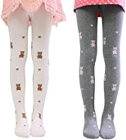 Girls Kids Cartoon Cotton Legging Pants Tight Stockings Tights 2 Pack 1-12Y