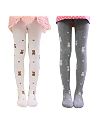 Girls Kids Cartoon Cotton Legging Pants Tight Stockings Tights 2 Pack 1-12Y