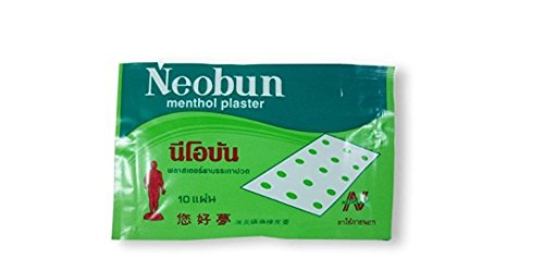 Neobun-chinese Pain Relief Menthol Pads Patch Value Pack X 3 Packs (1 Pack = 10 Sheet Pads) from thailand from win free shipping
