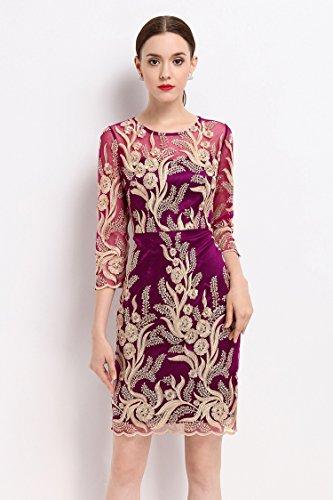 削除する半径無条件エレガンス 刺繍 タイト 二次会 女子会 結婚式 ドレス ワンピースA0139
