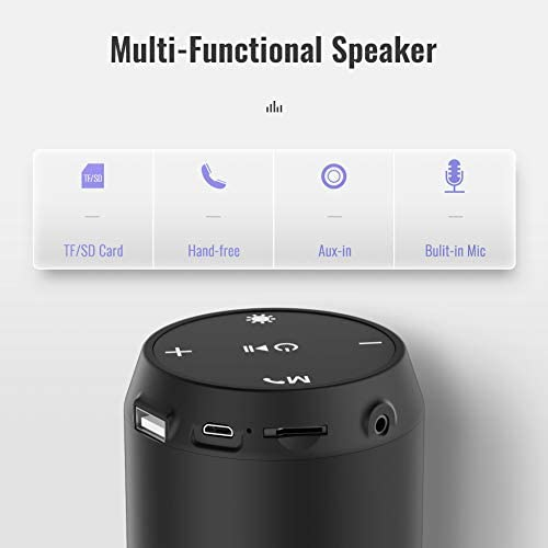 ELEHOT Bluetooth Speaker Portable Wireless with Lights, Stereo Loud Volume, TWS Dual Pairing Speaker with Subwoofer Outdoor 1 PC 41CksGVifyL
