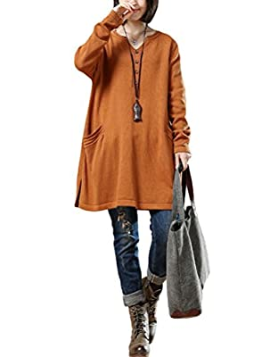 Mordenmiss Women's New Loose Long Sleeved Pullover Sweater