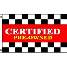 Certified Preowned Car Showroom Forecourt Shop Advert Sign Banner 5'x3' Flag