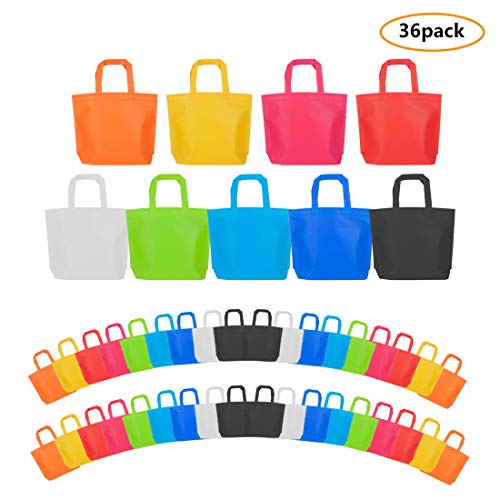 Party Tote Bags, 36 Pcs Non Woven Party Gift Favor Bag with Handles, 10 x13 Inch, 9 ()