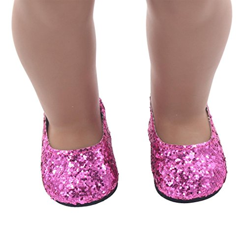 Doll Shoes Dress Shoes For American Doll,NOMENI 2018 18inch Dolls Shoes Dress Shoe For American Girl Doll Accessory (Hot Pink)