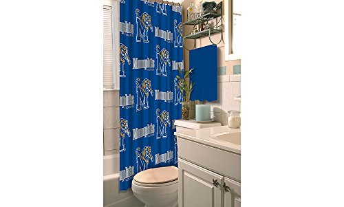 Tigers Ncaa Shower Curtain - Northwest Officially Licensed NCAA Memphis Tigers Shower Curtain