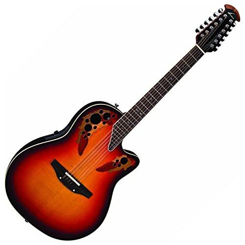 Burst England Guitar - Ovation Standard Elite 2758AX 12-string Acoustic-electric Guitar, New England Burst