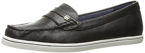 Tommy Hilfiger Women's Butter4 Flat - Black - 10 B(M) US