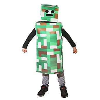 Green Pixel Robot Monster Child Costume (Small 4-8)