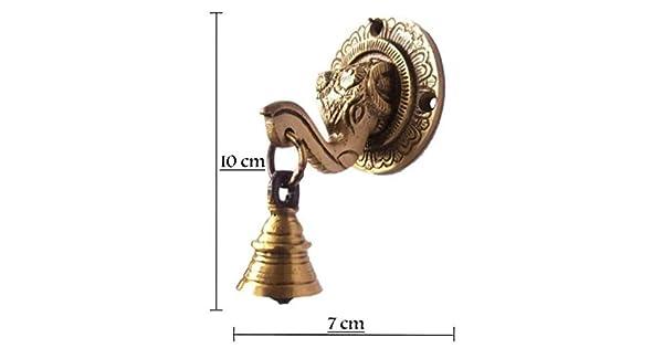 Idea de Regalo rara Decoración cabeza de león exclusivo Aldaba de puerta de latón detallada