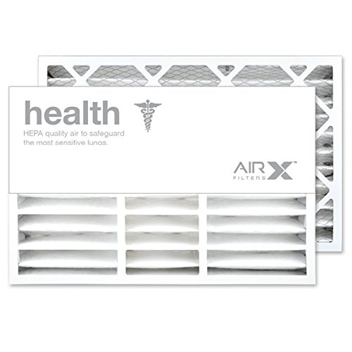 AIRx Filters Health 16x25x5 Air Filter MERV 13 AC Furnace Pleated Air Filter Replacement for Honeywell FC200E1029 FC100A1029 CF200A1008 CF200D1625 Box of 2, Made in the USA