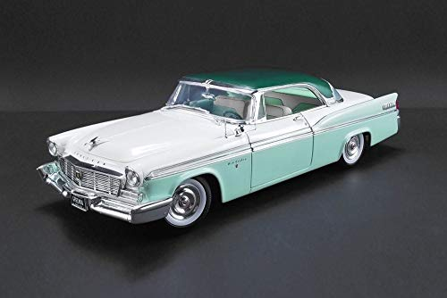 1956 Chrysler New Yorker St. Regis Hard Top, Mint Green and White - Acme 1809003 - 1/18 Scale Diecast Model Toy Car