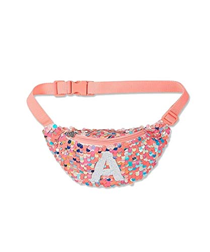 Justice Sequins Fanny Pack Belt Bag Initial (Letter M)]()