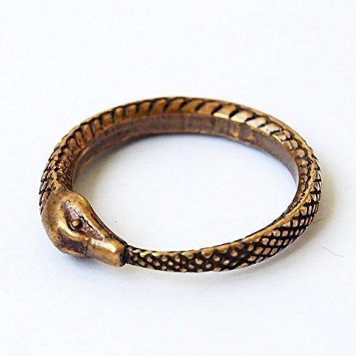 Snake eat tail (Uroboros) brass ring. Size (Handmade Snake)