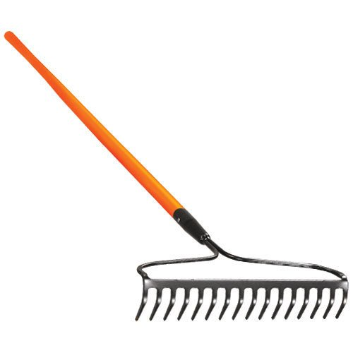 A.M. Leonard Bow Rake with Composite Handle - 16.5 Inches/16 Tines