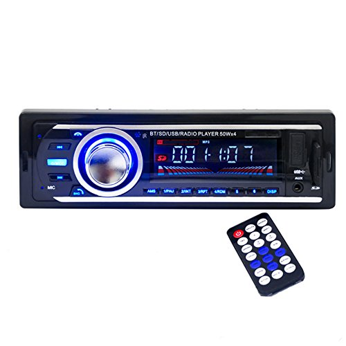 Kingtoys®1 DIN MP3-Autoradio mit Apple iPod/iPhone Control Funktion(Bluetooth,4x 60Watt,USB,Aux-Eingang,SD-Speicher) (HP-2126 Schwarz)