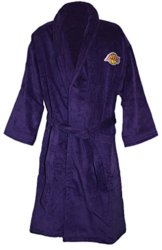 NBA Los Angeles Lakers Luxury Bath Robe, Purple, 100% Cotton by McArthur
