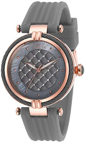 Invicta Women's Bolt Stainless Steel Quartz Polyurethane Strap, Grey, 18 Casual Watch (Model: 28947)