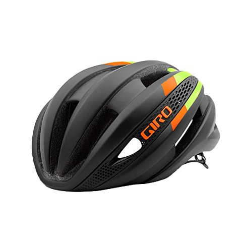 Giro Synthe Helmet Matte Black/Lime/Flame, M For Sale