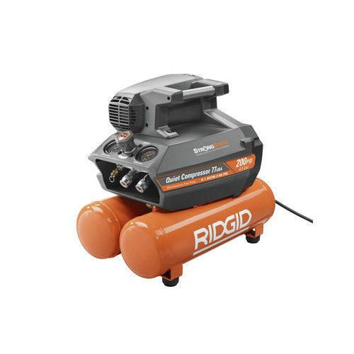 Ridgid ZROF45200SS Ridgid 200 psi 4.5 Gal. Electric Quiet Compressor (Certified Refurbished) by Ridgid