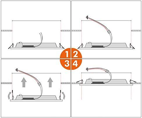 HG 10 Stück 3W LED Einbauleuchte Einbaustrahler Deckenstrahler Deckenspots Deckeneinbaustrahler Einbauspot 4014SMD 230V für Wohnzimmer Küche Schlafzimmer Korridor