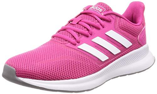 adidas Damen Runfalcon Road Running Shoe, Rosa Bianco