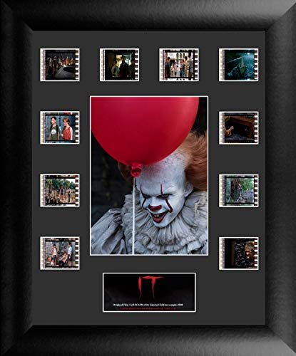 Halloween Movie Memorabilia (Trend Setters Stephen King It - Pennywise and Balloon - Limited Edition FilmCells Presentation - Features 10 Clips of Authentic 35mm Film from The Movies - Perfect for Horror Film)