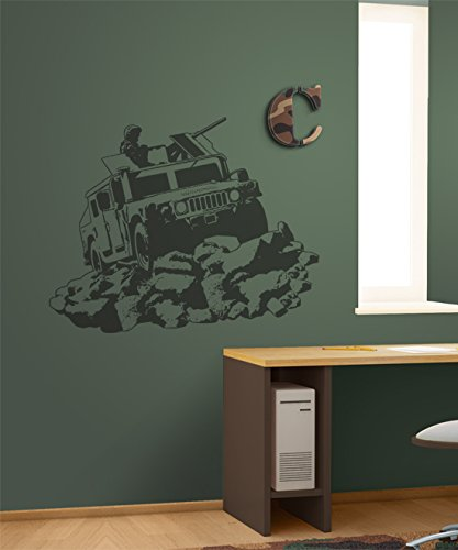 Sudden Shadows Wall Stickers - Borders Unlimited Camo Humvee Sudden Shadow