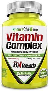 Beverly Nutrition Vitamin Complex - 90 comprimidos de 1500 mg ...