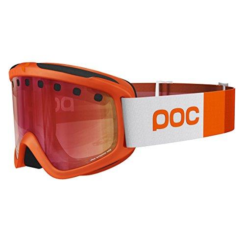 POC Iris Masque de Ski Mixte, Methane Green, Regular Zink Orange